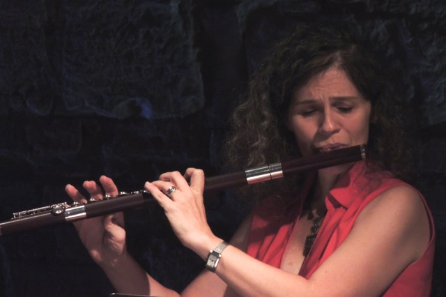 image of Cecilia Piehl Price playing the flute