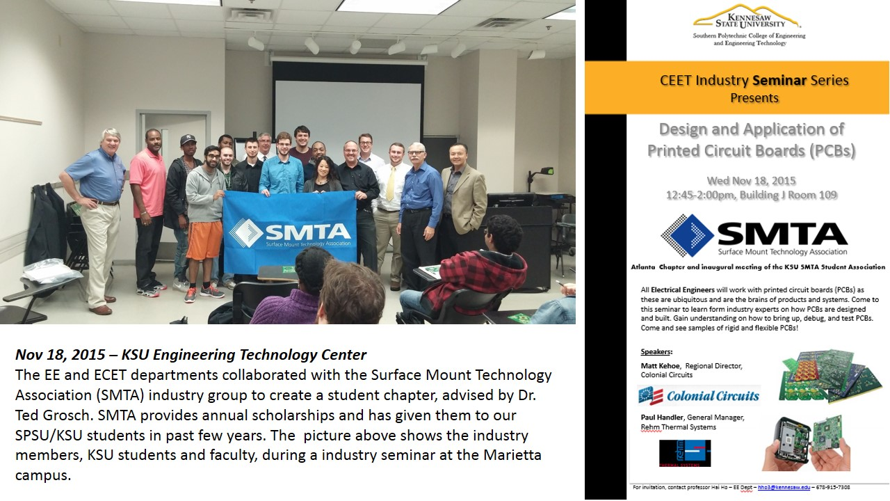 Ksu Faculty Web Hai Ho Using Circuit Boards The Designer Created Two Chic Board Nov 4 2015 Surface Mount Technology Association Smta Student Chapter