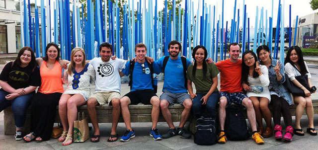 Photo of group of students in China on KSU Education Abroad trip
